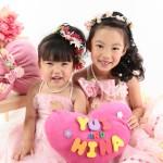大阪の七五三写真撮影スタジオ・ハニーアンドクランチの3歳女の子洋装(ドレス・きぐるみ)のフォトギャラリーD272