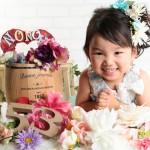 大阪の七五三写真撮影スタジオ・ハニーアンドクランチの3歳女の子洋装(ドレス・きぐるみ)のフォトギャラリーD279