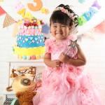 大阪の七五三写真撮影スタジオ・ハニーアンドクランチの3歳女の子洋装(ドレス・きぐるみ)のフォトギャラリーD280