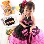 大阪の七五三写真撮影スタジオ・ハニーアンドクランチの3歳女の子洋装(ドレス・きぐるみ)のフォトギャラリーD285