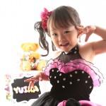 大阪の七五三写真撮影スタジオ・ハニーアンドクランチの3歳女の子洋装(ドレス・きぐるみ)のフォトギャラリーD286