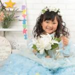 大阪の七五三写真撮影スタジオ・ハニーアンドクランチの3歳女の子洋装(ドレス・きぐるみ)のフォトギャラリーD287
