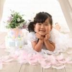 大阪の七五三写真撮影スタジオ・ハニーアンドクランチの3歳女の子洋装(ドレス・きぐるみ)のフォトギャラリーD288