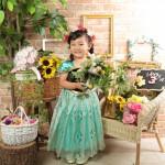 大阪の七五三写真撮影スタジオ・ハニーアンドクランチの3歳女の子洋装(ドレス・きぐるみ)のフォトギャラリーD290