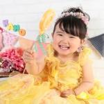大阪の七五三写真撮影スタジオ・ハニーアンドクランチの3歳女の子洋装(ドレス・きぐるみ)のフォトギャラリーD292