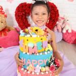 大阪の七五三写真撮影スタジオ・ハニーアンドクランチの7歳女の子ドレス・洋装のフォトギャラリーE003
