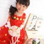 大阪の七五三写真撮影スタジオ・ハニーアンドクランチの7歳女の子ドレス・洋装のフォトギャラリーE006