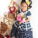 大阪の七五三写真撮影スタジオ・ハニーアンドクランチの7歳女の子ドレス・洋装のフォトギャラリーE010