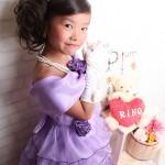 大阪の七五三写真撮影スタジオ・ハニーアンドクランチの7歳女の子ドレス・洋装のフォトギャラリーE011