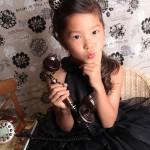 大阪の七五三写真撮影スタジオ・ハニーアンドクランチの7歳女の子ドレス・洋装のフォトギャラリーE012