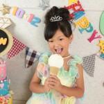 大阪の七五三写真撮影スタジオ・ハニーアンドクランチの7歳女の子ドレス・洋装のフォトギャラリーE014