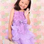 大阪の七五三写真撮影スタジオ・ハニーアンドクランチの7歳女の子ドレス・洋装のフォトギャラリーE016