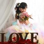 大阪の七五三写真撮影スタジオ・ハニーアンドクランチの7歳女の子ドレス・洋装のフォトギャラリーE017