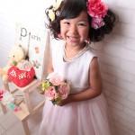 大阪の七五三写真撮影スタジオ・ハニーアンドクランチの7歳女の子ドレス・洋装のフォトギャラリーE019