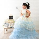 大阪の七五三写真撮影スタジオ・ハニーアンドクランチの7歳女の子ドレス・洋装のフォトギャラリーE020