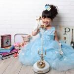 大阪の七五三写真撮影スタジオ・ハニーアンドクランチの7歳女の子ドレス・洋装のフォトギャラリーE021