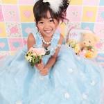大阪の七五三写真撮影スタジオ・ハニーアンドクランチの7歳女の子ドレス・洋装のフォトギャラリーE022