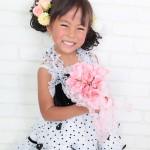 大阪の七五三写真撮影スタジオ・ハニーアンドクランチの7歳女の子ドレス・洋装のフォトギャラリーE030