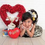 大阪の七五三写真撮影スタジオ・ハニーアンドクランチの7歳女の子ドレス・洋装のフォトギャラリーE032