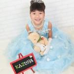大阪の七五三写真撮影スタジオ・ハニーアンドクランチの7歳女の子ドレス・洋装のフォトギャラリーE033