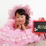 大阪の七五三写真撮影スタジオ・ハニーアンドクランチの7歳女の子ドレス・洋装のフォトギャラリーE037