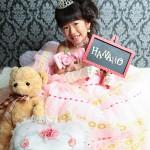 大阪の七五三写真撮影スタジオ・ハニーアンドクランチの7歳女の子ドレス・洋装のフォトギャラリーE044
