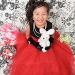 大阪の七五三写真撮影スタジオ・ハニーアンドクランチの7歳女の子ドレス・洋装のフォトギャラリーE046