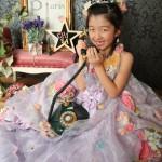 大阪の七五三写真撮影スタジオ・ハニーアンドクランチの7歳女の子ドレス・洋装のフォトギャラリーE048