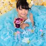 大阪の七五三写真撮影スタジオ・ハニーアンドクランチの7歳女の子ドレス・洋装のフォトギャラリーE051