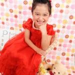 大阪の七五三写真撮影スタジオ・ハニーアンドクランチの7歳女の子ドレス・洋装のフォトギャラリーE054