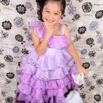 大阪の七五三写真撮影スタジオ・ハニーアンドクランチの7歳女の子ドレス・洋装のフォトギャラリーE055