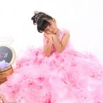大阪の七五三写真撮影スタジオ・ハニーアンドクランチの7歳女の子ドレス・洋装のフォトギャラリーE057