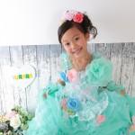 大阪の七五三写真撮影スタジオ・ハニーアンドクランチの7歳女の子ドレス・洋装のフォトギャラリーE060
