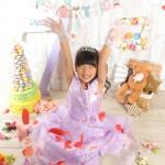 大阪の七五三写真撮影スタジオ・ハニーアンドクランチの7歳女の子ドレス・洋装のフォトギャラリーE061