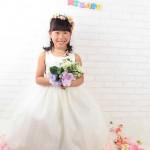 大阪の七五三写真撮影スタジオ・ハニーアンドクランチの7歳女の子ドレス・洋装のフォトギャラリーE062