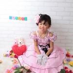 大阪の七五三写真撮影スタジオ・ハニーアンドクランチの7歳女の子ドレス・洋装のフォトギャラリーE064