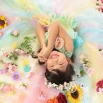 大阪の七五三写真撮影スタジオ・ハニーアンドクランチの7歳女の子ドレス・洋装のフォトギャラリーE066