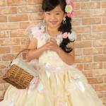 大阪の七五三写真撮影スタジオ・ハニーアンドクランチの7歳女の子ドレス・洋装のフォトギャラリーE068