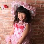 大阪の七五三写真撮影スタジオ・ハニーアンドクランチの7歳女の子ドレス・洋装のフォトギャラリーE069