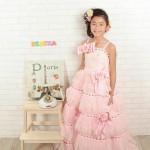 大阪の七五三写真撮影スタジオ・ハニーアンドクランチの7歳女の子ドレス・洋装のフォトギャラリーE072