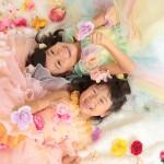 大阪の七五三写真撮影スタジオ・ハニーアンドクランチの7歳女の子ドレス・洋装のフォトギャラリーE076