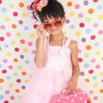大阪の七五三写真撮影スタジオ・ハニーアンドクランチの7歳女の子ドレス・洋装のフォトギャラリーE077