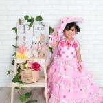 大阪の七五三写真撮影スタジオ・ハニーアンドクランチの7歳女の子ドレス・洋装のフォトギャラリーE081