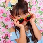 大阪の七五三写真撮影スタジオ・ハニーアンドクランチの7歳女の子ドレス・洋装のフォトギャラリーE083