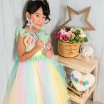 大阪の七五三写真撮影スタジオ・ハニーアンドクランチの7歳女の子ドレス・洋装のフォトギャラリーE084
