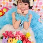 大阪の七五三写真撮影スタジオ・ハニーアンドクランチの7歳女の子ドレス・洋装のフォトギャラリーE089