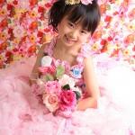 大阪の七五三写真撮影スタジオ・ハニーアンドクランチの7歳女の子ドレス・洋装のフォトギャラリーE099
