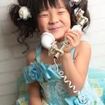 大阪の七五三写真撮影スタジオ・ハニーアンドクランチの7歳女の子ドレス・洋装のフォトギャラリーE101