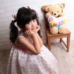 大阪の七五三写真撮影スタジオ・ハニーアンドクランチの7歳女の子ドレス・洋装のフォトギャラリーE107