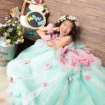 大阪の七五三写真撮影スタジオ・ハニーアンドクランチの7歳女の子ドレス・洋装のフォトギャラリーE108